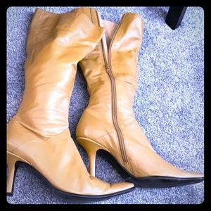 Nine West - Soft leather boots - camel - size 6.5